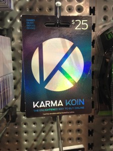 Card has no value until activated by cashier