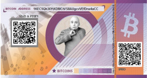 Dr. Evil Themed Paper Wallet